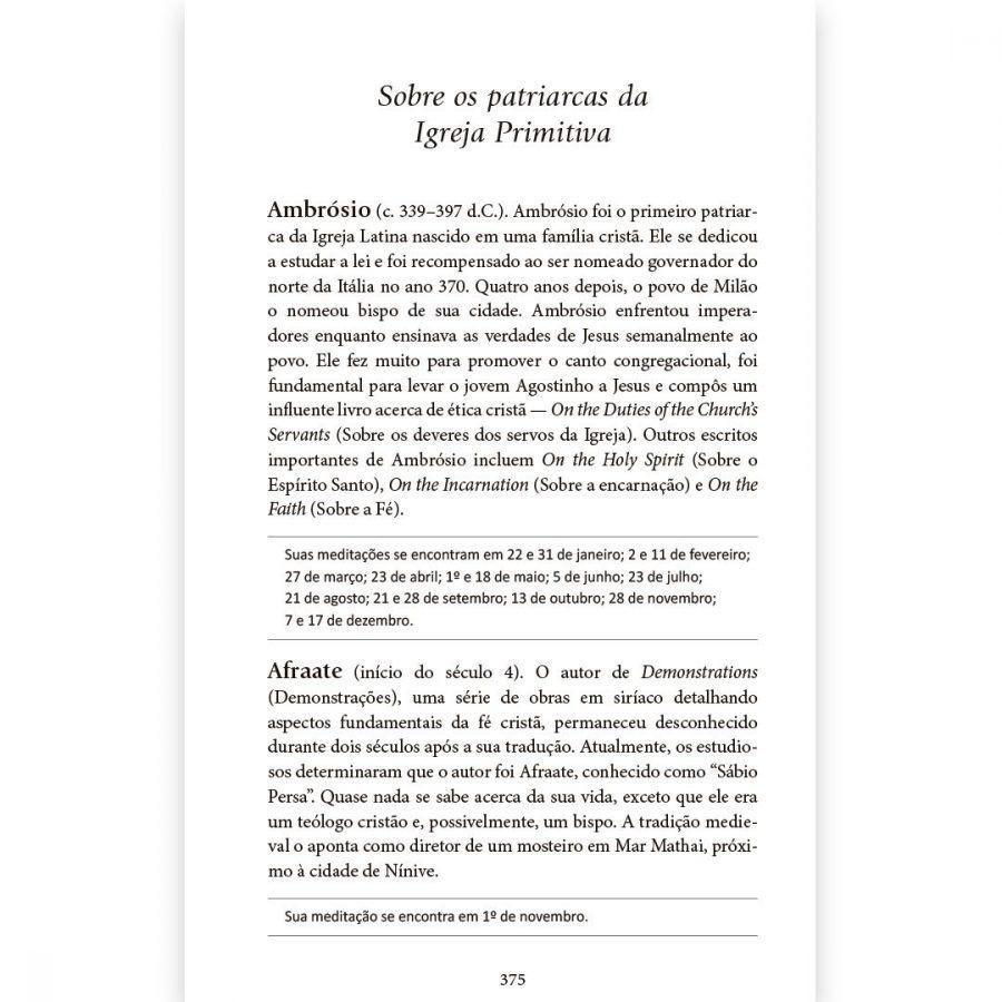 DIA A DIA COM OS PAIS DA IGREJA   DEVOCIONAL DIÁRIO   CAPA COURO  LUXO