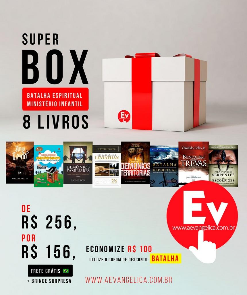 SUPER BOX BATALHA ESPIRITUAL MINISTÉRIO INFANTIL   8 LIVROS by Flávia Grégio