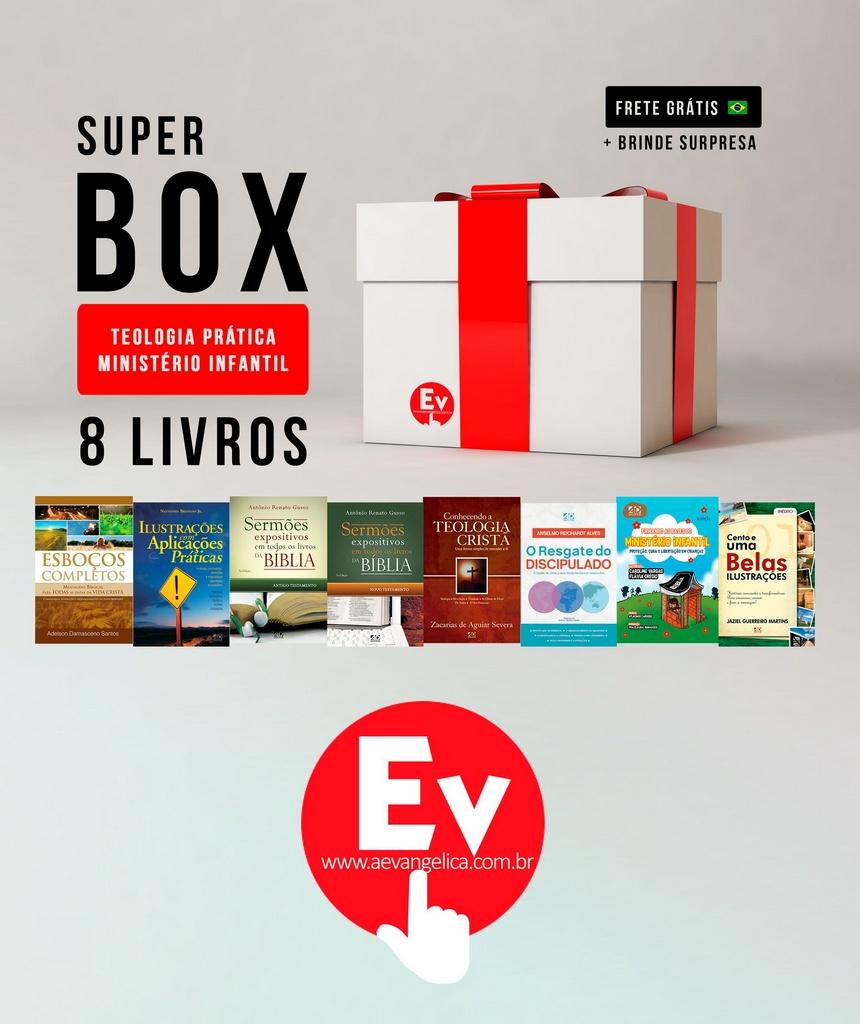 SUPER BOX TEOLOGIA PRÁTICA MINISTÉRIO INFANTIL   8 LIVROS