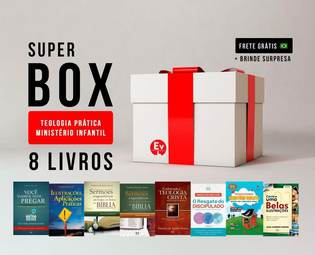 SUPER BOX TEOLOGIA PRÁTICA MINISTÉRIO INFANTIL   8 LIVROS by Caroline Vargas