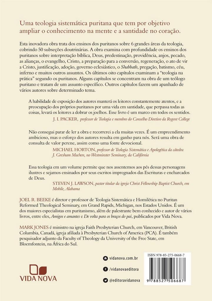 Teologia Puritana: doutrina para a vida