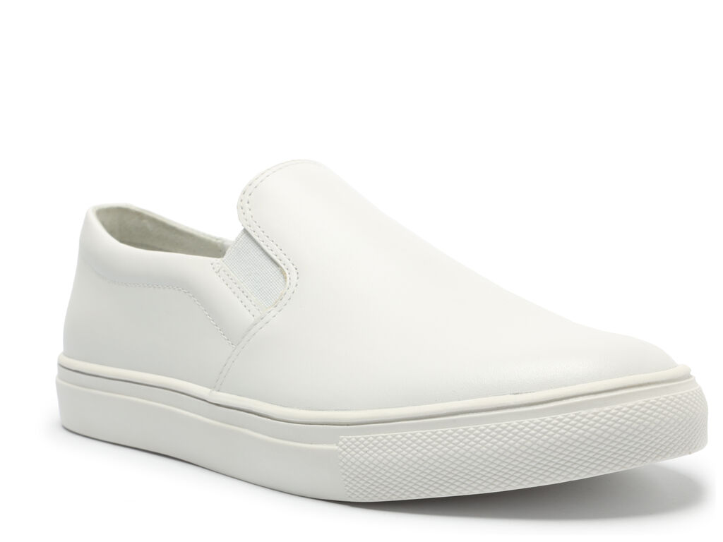 Slip On Branco Couro Flatform