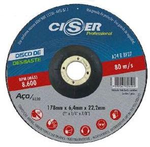 Disco de desbaste PRO 115 x 6,4 x 22 mm - Ciser (10 Unidades)