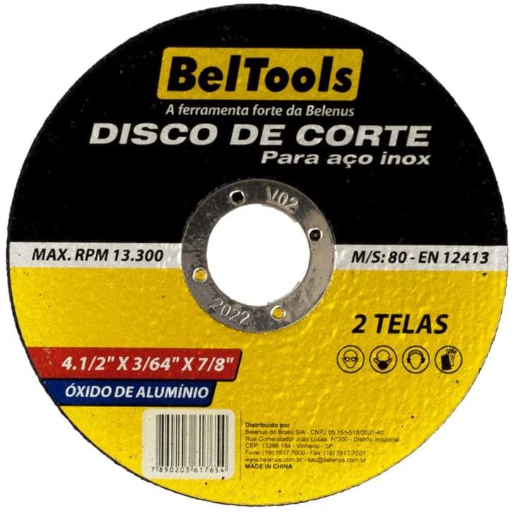 DISCO CORTE INOX 4.1/2 POL BELTOOLS - (10 Unidades)