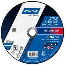 Disco de Corte para Metal e Inox 7 POL BNA 12 NORTON - (10 Unidades)