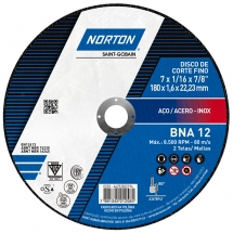 Disco de Corte para Metal e Inox 7 POL BNA 12 NORTON