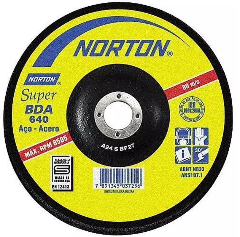 Disco de Desbaste 7 Pol C/ Furo de 7/8 BDA 640 NORTON - (10 Unidades)