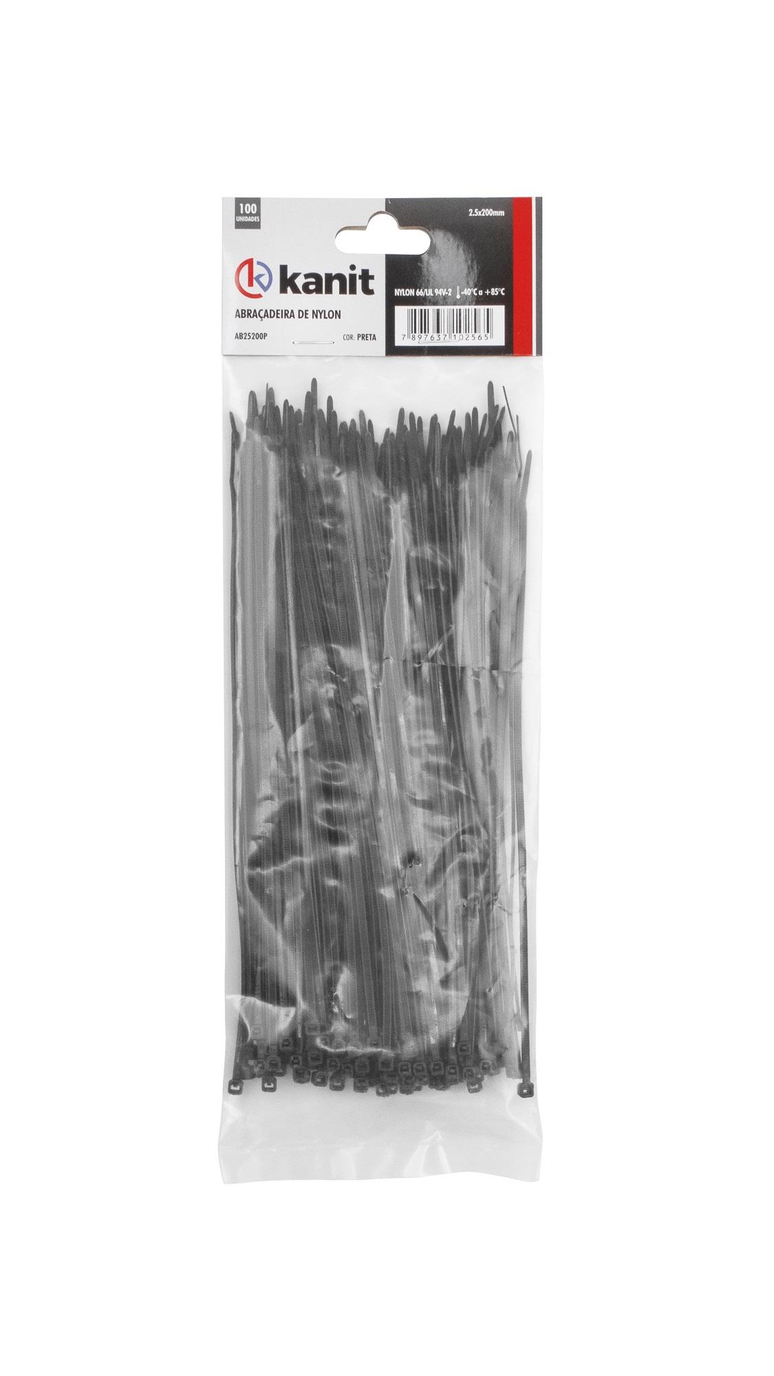 Fitas abraçadeiras (Nylon) 105 mm (W) 4,8 mm