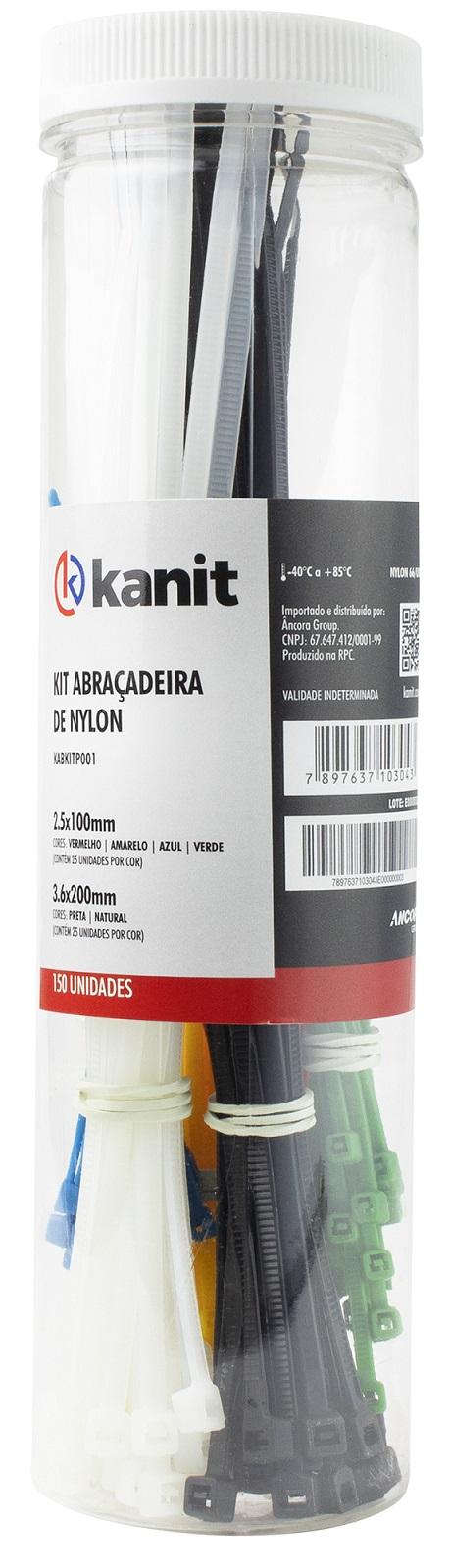 Kit (150 x Fitas Abraçadeiras) (Nylon)  21,35 mm