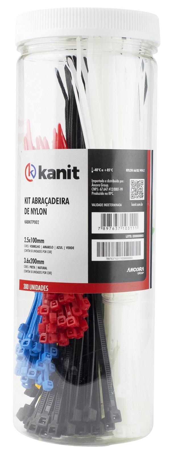 Kit (300 x Fitas Abraçadeiras) (Nylon)  21,35 mm