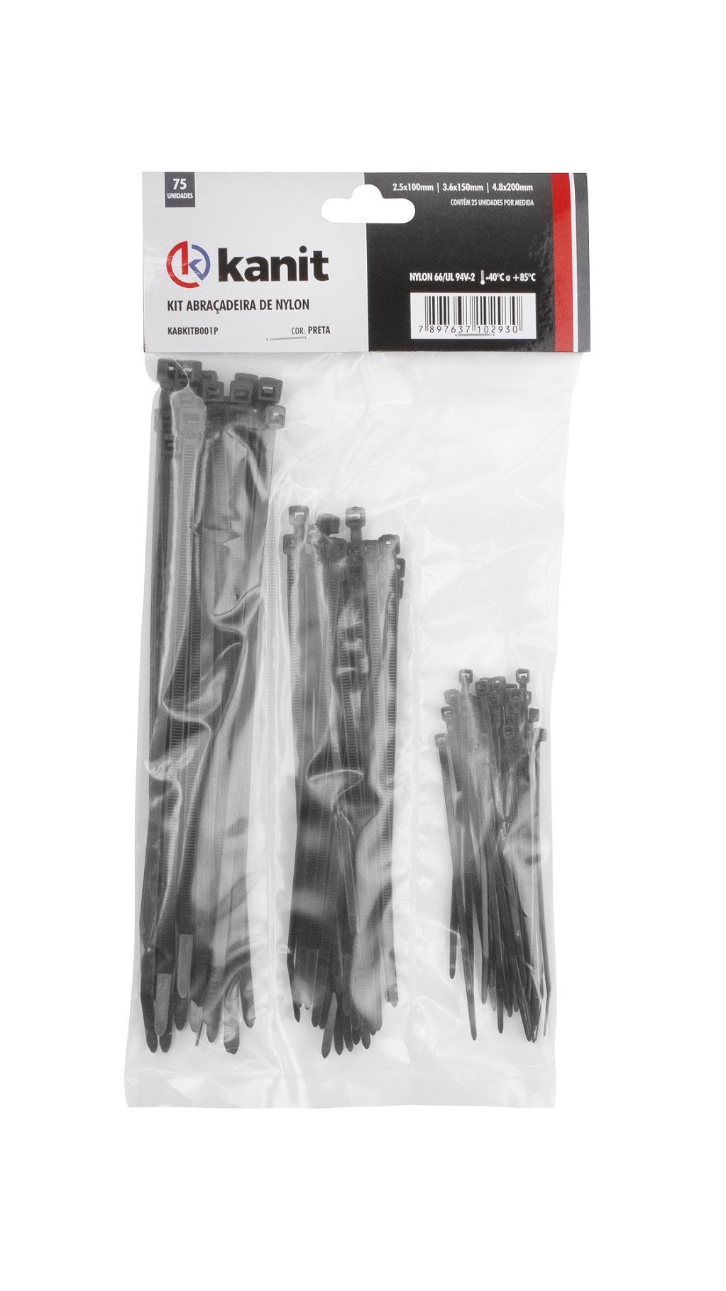 Kit (75 x Fitas Abraçadeiras) (Nylon)  21, 35, 50  mm
