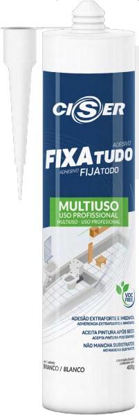 Selante híbrido fixa tudo cinza FIXAtudo 400g - Ciser (10 Unidades)
