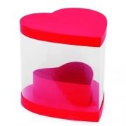 Caixa Coração Liso Vermelho