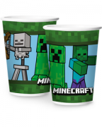 Copo De Papel Minecraft 180 ml