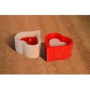 Vela Coração Vazado M Com Coração Cheio p vermelho\branco