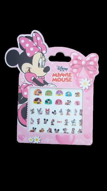 Adesivo De Unha Da Minnie Mouse Rosa / 33 ADESIVOS