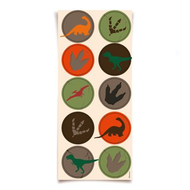 Adesivo Decorativo Dinossauro- 30 Unidades