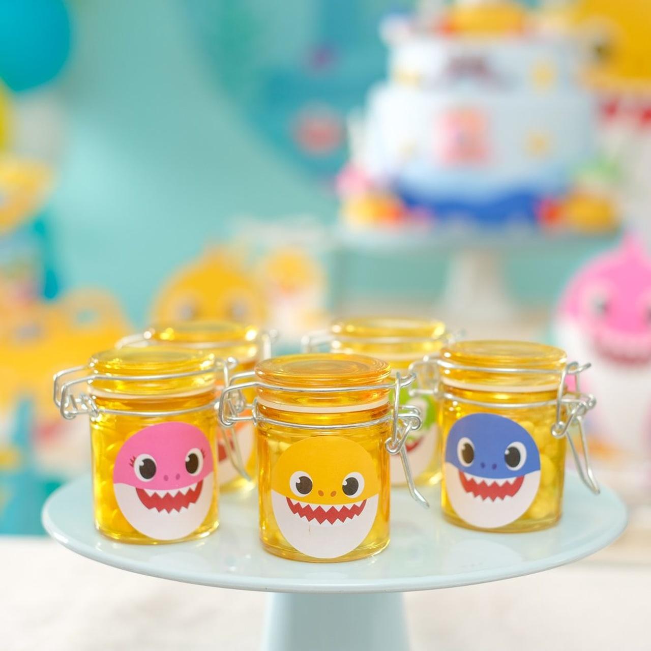 Adesivo Decorativo Baby Shark- 30 Unidades