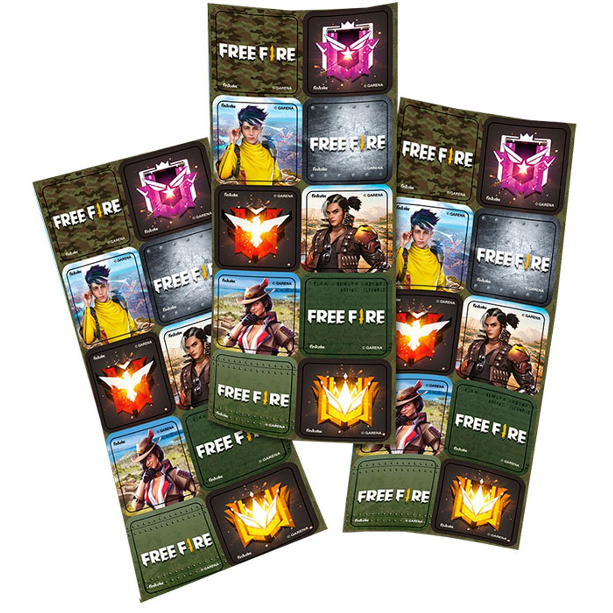 Adesivo Decorativo Free Fire- 30 Unidades
