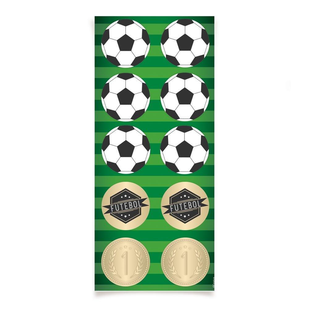 Adesivo Decorativo Futebol- 30 Unidades