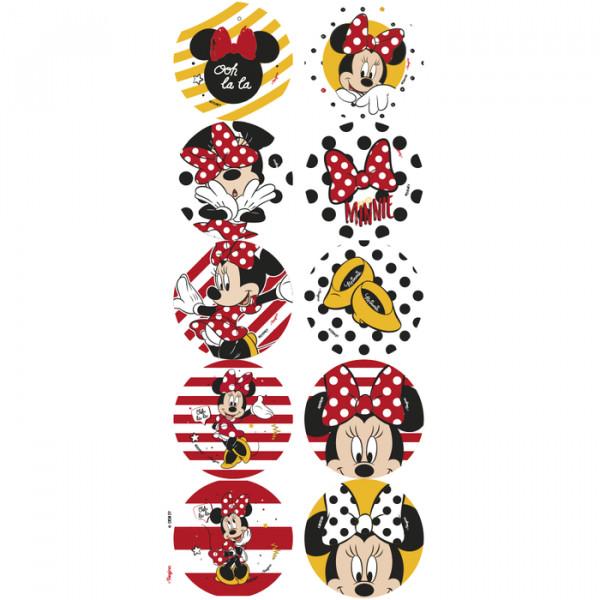Adesivo Decorativo Minnie Mouse/ 03 Cartelas