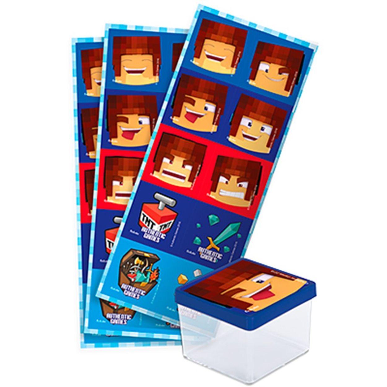 Adesivo quadrado Authentic Games-30 Unidades