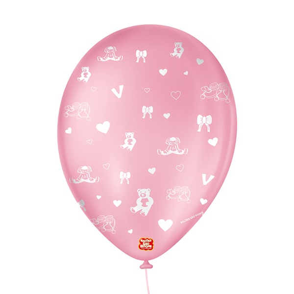 Balão Decorado É Uma Menina São Roque Nº9/ 25 Unidades