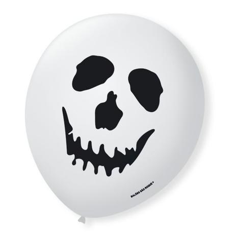 Balão Decorado Halloeen Caveira São Roque Nº5/ 15 Unidades