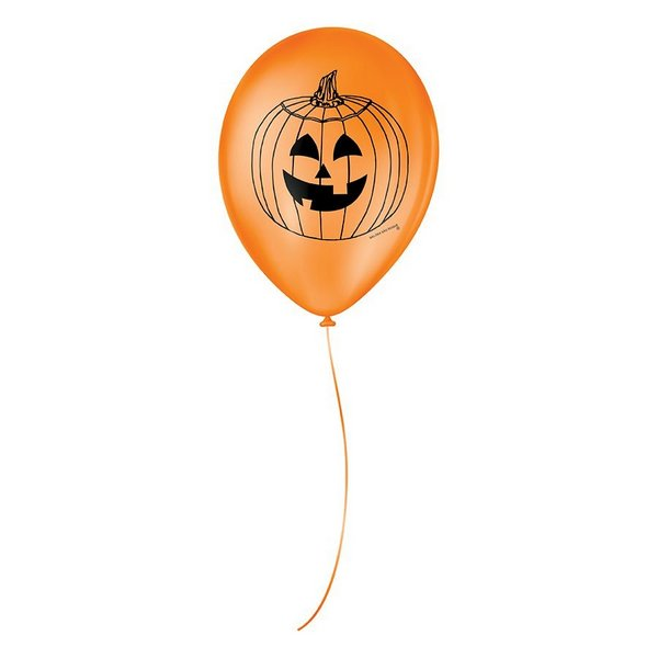 Balão Decorado Halloween 9 Polegadas / 25 Unidades