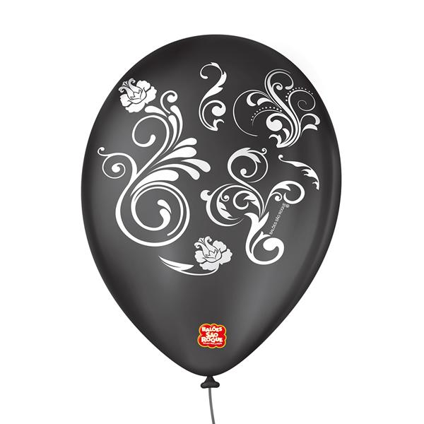 Balão Decorado Arabesco São Roque Nº9/ 25 Unidades