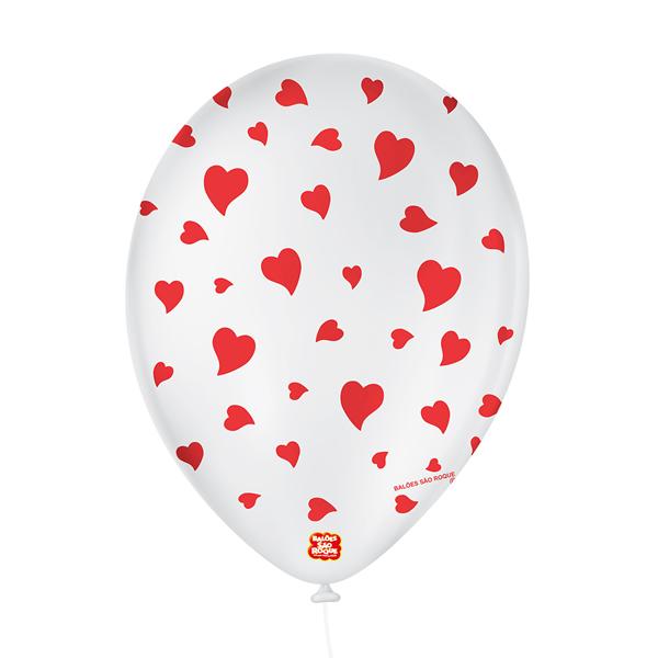 Balão Decorado Corações São Roque Nº9/ 25 Unidades