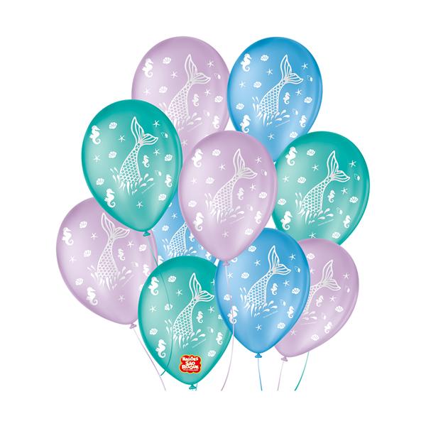 Balão Decorativo Fundo Do Mar Sortido São Roque Nº9/25 Unidades