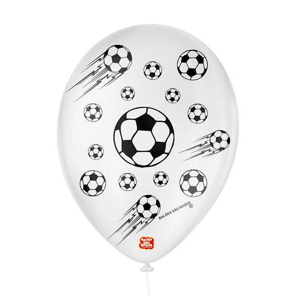 Balão Decorativo Futebol São Roque Nº9/ 25 Unidades