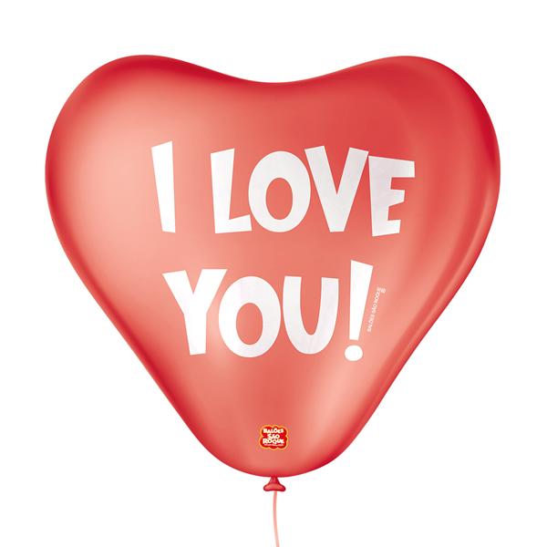 Balão Decorativo I Love You São Roque Nº11/ 25 Unidades