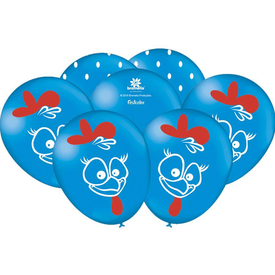 Balão Especial 9 Galinha Pintadinha- 25 Unidades