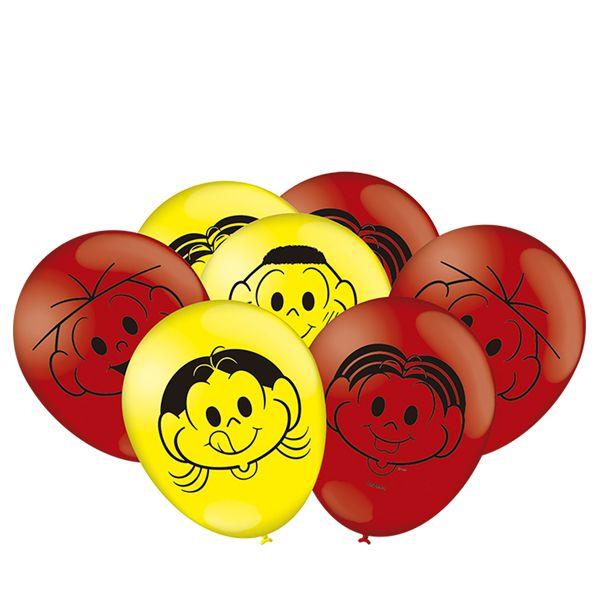 Balão  Especial  Turma Da Mônica N°9- 25 Unidades