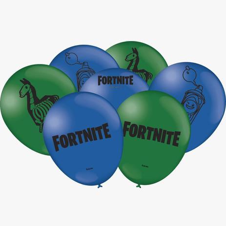 Balão Látex Nº9 Fortnite / 25 Unidades