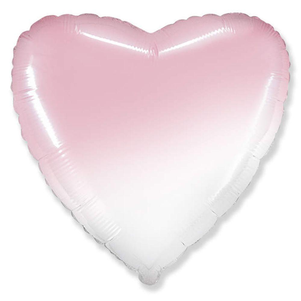 Balão Metalizado Coração GRADIENT ROSA BABY Flexmetal 20 Polegadas