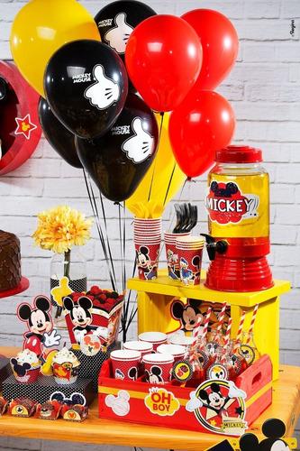 Balão Mickey Mouse Tamanho N°9/ 25 Unidades