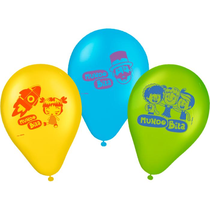 Balão Mundo Bita 9-25 Unidades
