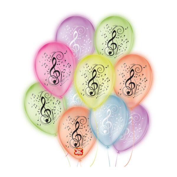 Balão Decorado Musica Sortido São Roque Nº9/ 25 Unidades