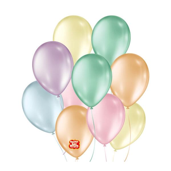 balão perolado são roque sortido Nº9/ 50 Unidades
