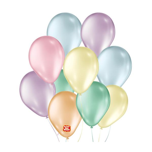 Balão Perolado Sortido São Roque Nº7/ 50 Unidades