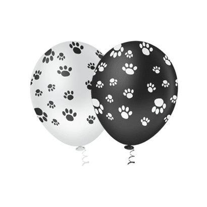 Balão  PIC PIC Decorado Pegadas Dog Nº10/ 25 Unidades