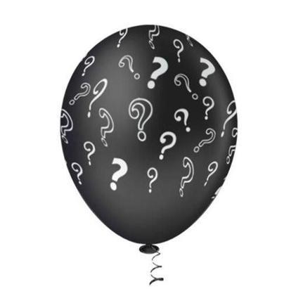 Balão PIC PIC Decorado Revelação Preto c Branco Nº10/ 25 Unidades
