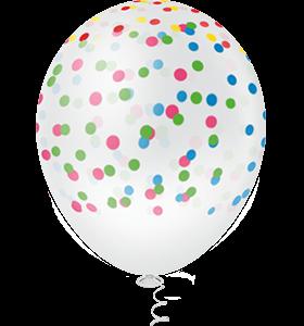 Balão  PIC PIC Decorativo Confetes Clear Sortido Nº9/ 25 Unidades