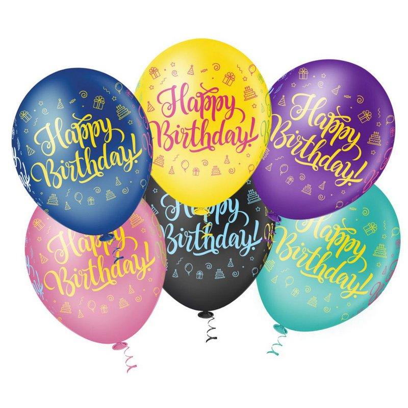 Balão  PIC PIC Decorativo Happy Birthday Nº10/ 25 unidades