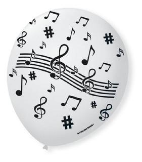 Balão PIC PIC Decorativo Notas Musicais Nº9 / 25 Unidades