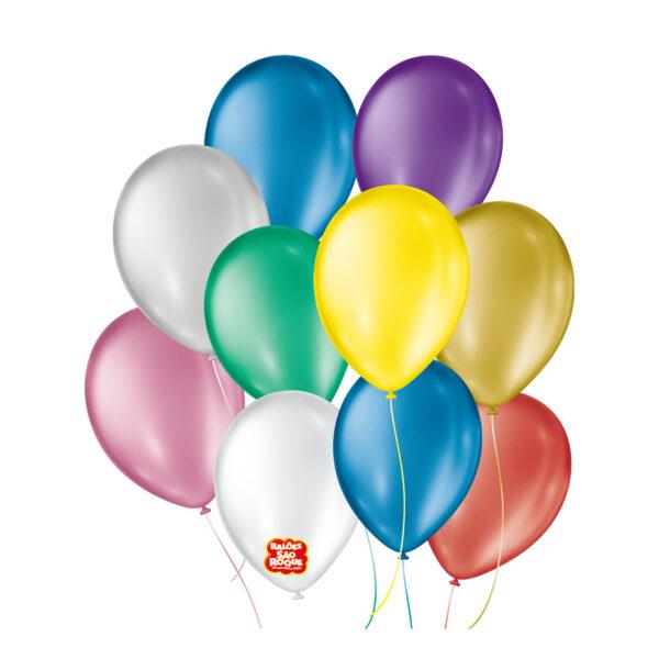 Balões Cintilante  São Roque Nº9/ 50 Unidades