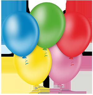 Balões Linha Redondo PIC PIC Liso Sortido Nº9/ 50 Unidades